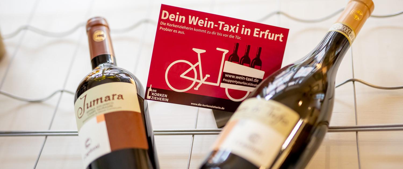 das Wein Taxi in Erfurt